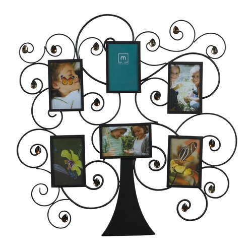 6 Family Tree Amber Gem Collage Picture Frame
