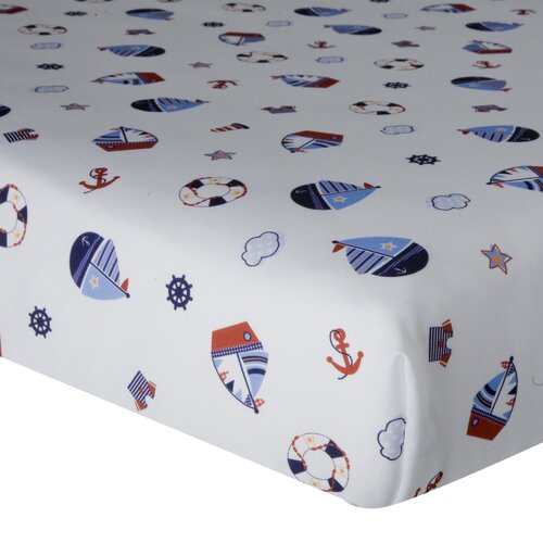 Sail Away Fitted Crib Sheet