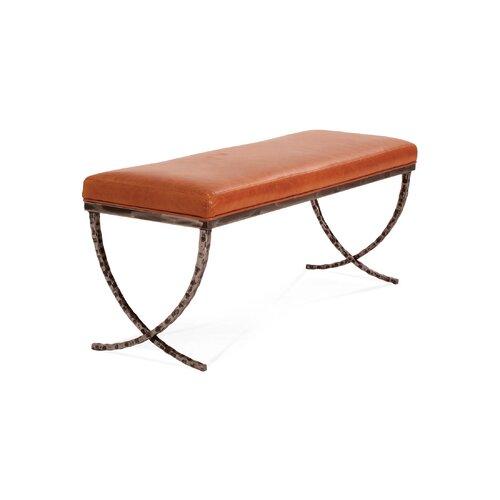 Talmadge Leather Bench