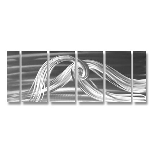Abstract Sculptures Mother's Love Knot in Monochrome 6 Piece Original Painting Plaque Set
