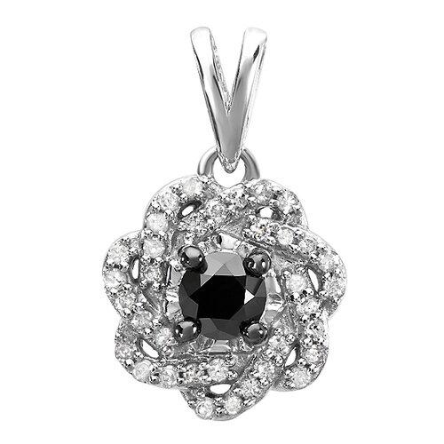 Sterling Silver Diamond Swirl Pendant