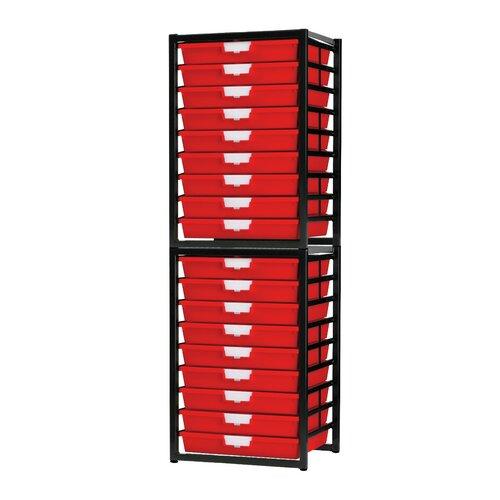 18 Tray Stationary Metal Rack