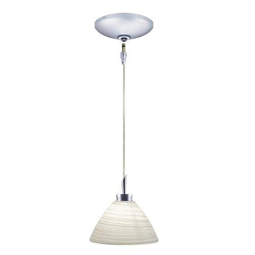 Jesco Lighting Collin 1 Light Pendant and Canopy Kit