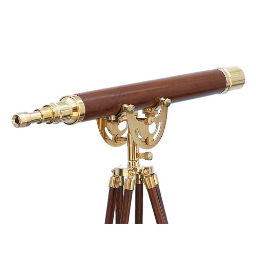 Floor Standing Brass/Wood Anchormaster Telescope