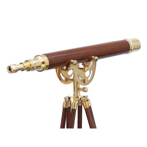 Handcrafted Model Ships Floor Standing Brass/Wood Anchormaster Telescope