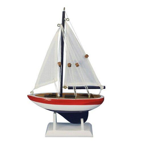 "Handcrafted Model Ships 9"" USA Sailor Sailboat"