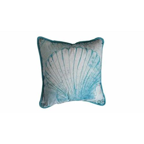 Handcrafted Nautical Decor Seashell Polyester Throw Pillow & Reviews Wayfair
