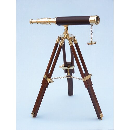 Handcrafted Model Ships Floor Standing Harbor Master Decorative Telescope