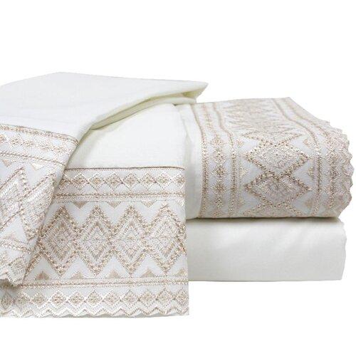 Lace Embroidery Microfiber Sheet Set