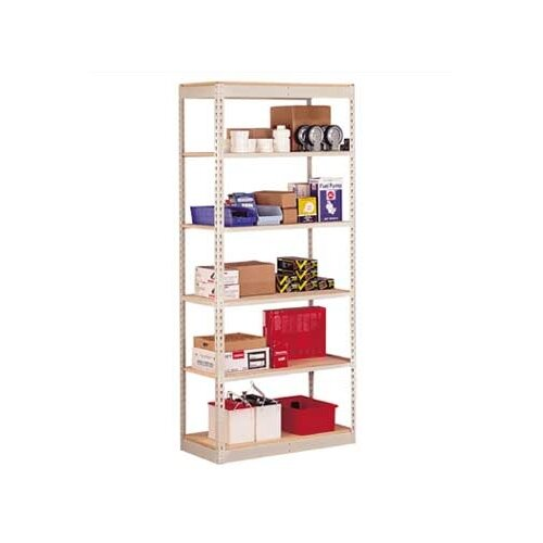 "Penco Single Rivet 84"" H 6 Shelf Shelving Unit Add-on"