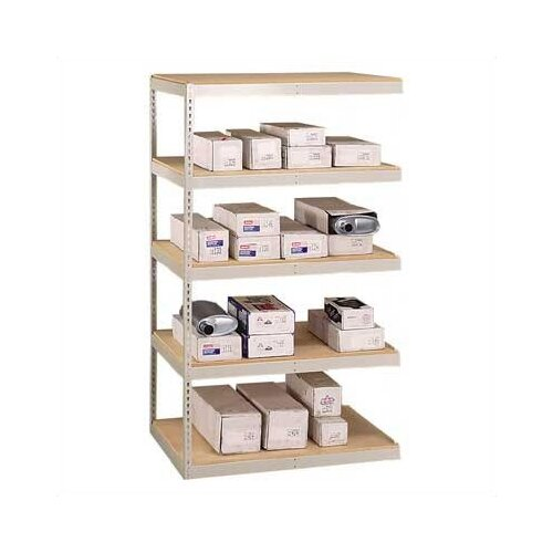 "Penco Double Rivet 84"" H 4 Shelf Shelving Unit Add-on"