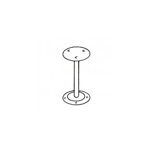 Penco Bench Pedestals - Heavy Duty, Steel Tube with Flanges