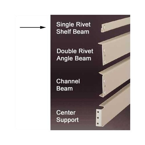 Penco RivetRite Parts - Heavy Duty Single Rivet Shelf Beams