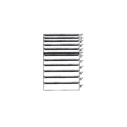 "Penco Clipper Specialty Shelving - Modular Drawer Kits for 36"" Wide Clipper Shelving - 11 Drawers"