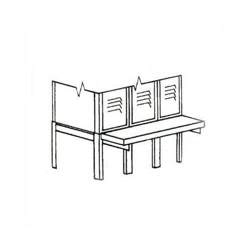 Penco Locker Parts -Packing House Kit for 3 Wide