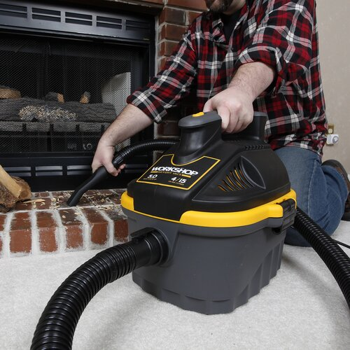 WORKSHOP Wet/Dry Vacs 4 Gal. 5.0 Peak HP Portable Wet/Dry Vac