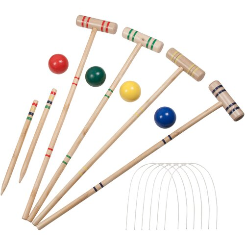 4 Player 16 Piece Croquet Set