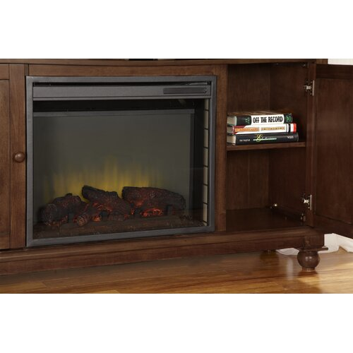 "Hearth Cabinet Fireplaces: Pleasant Hearth Pearson Media Cabinet And 23"" Electric"