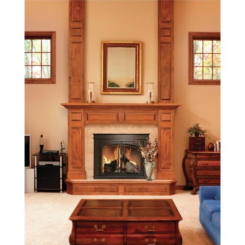 Pleasant hearth fenwick cabinet style fireplace screen for Prairie style fireplace