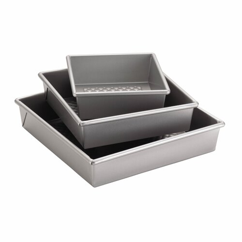 Professional 3-Piece Square Cake Pan Set