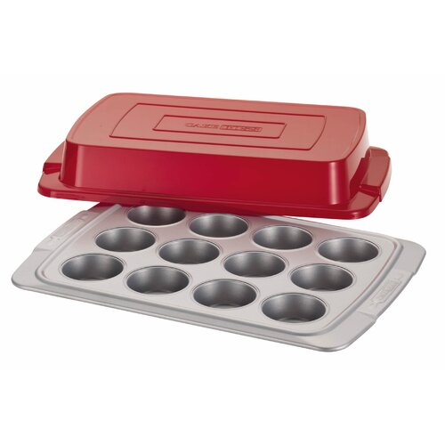Deluxe 12-Cup Covered Muffin Pan