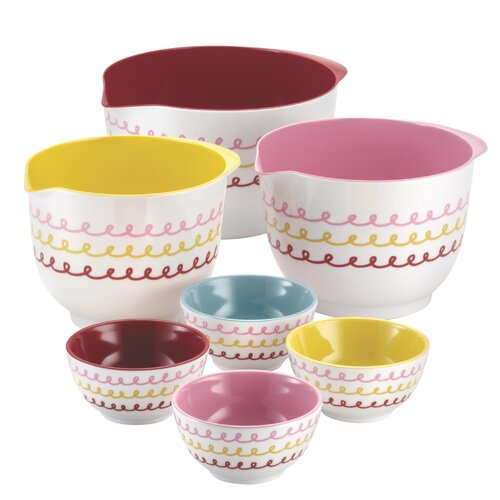 7 Piece Melamine Mixing and Prepping Bowl Set
