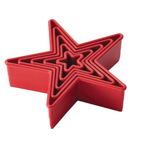 5-Piece Star Fondant and Cookie Cutter Set