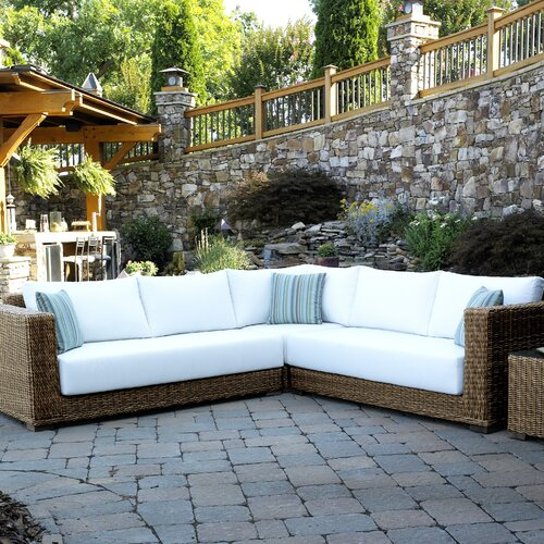 Santa Barbara Wicker 3 Pieces Sectional