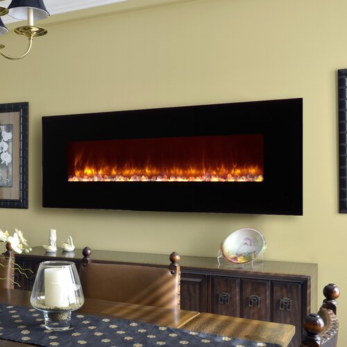 LED Wall Mount Electric Fireplace