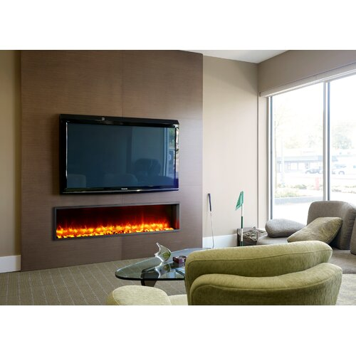 dynasty fireplaces 63 built in led electric fireplace