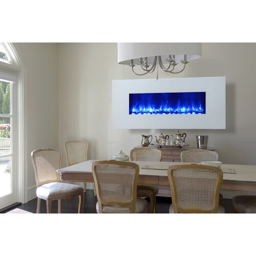 Dynasty Fireplaces Miami LED Wall Mount Electric Fireplace