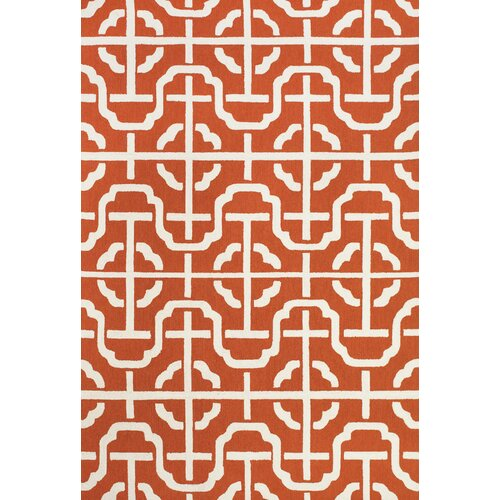 Cetara Orange / White Rug