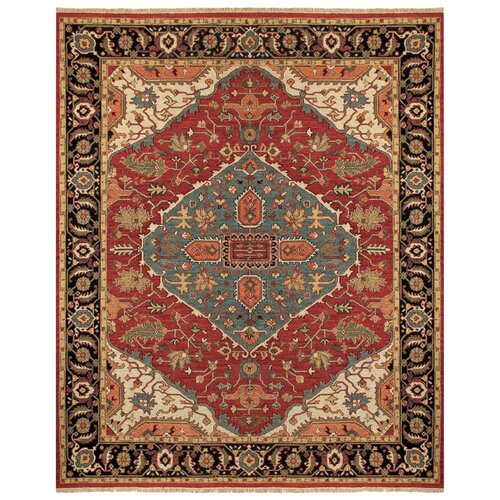 Goshen red floral area rug wayfair for Red floral area rug
