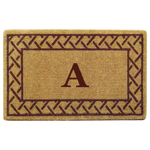 Trellis Border Personalized Monogrammed Doormat