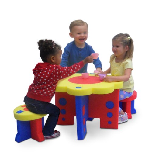 Kid's Adventure Sunflower Kids' 4 Piece Table and Chair Set