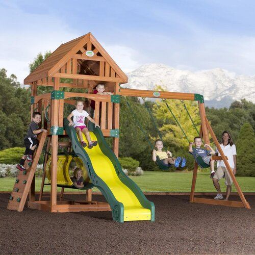 Compass Cedar All Cedar Swing Set