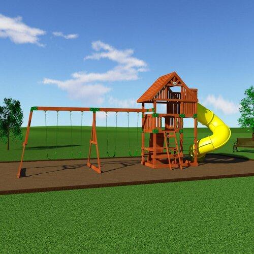 Backyard Odyssey Excursion Cedar All Cedar Swing Set