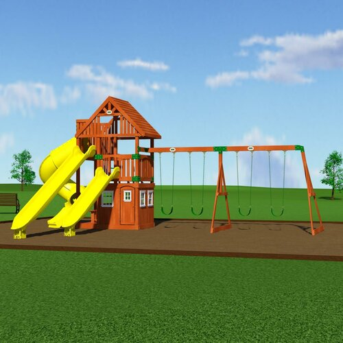 backyard odyssey traverse cedar all cedar swing set
