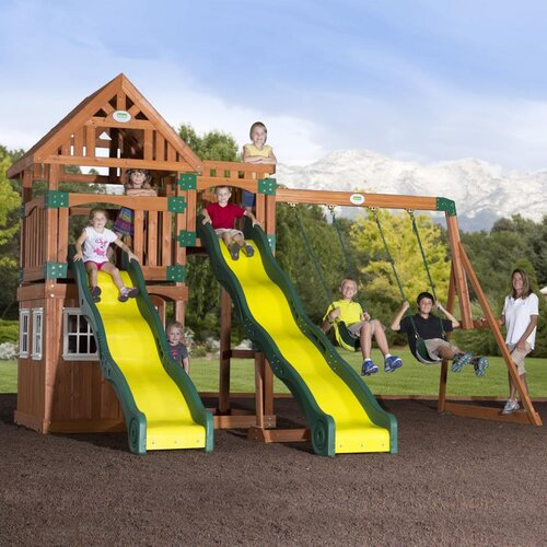 Journey Cedar All Cedar Swing Set