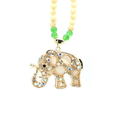 Elephant Jade Beaded Necklace