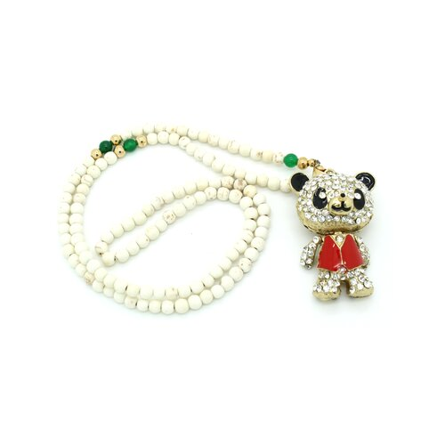 Happy Panda Jade Beaded Bracelet