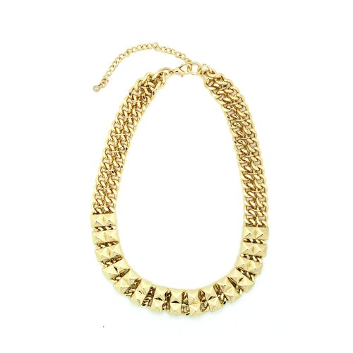 Spike Chain Link Studded Necklace