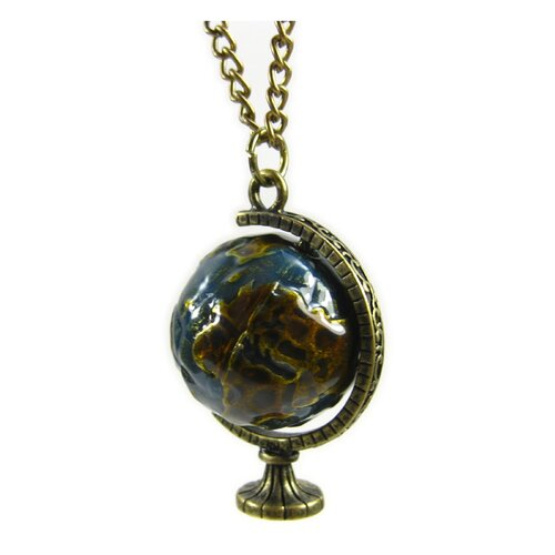 Jordan and Taylor See the World Spinning Globe Necklace