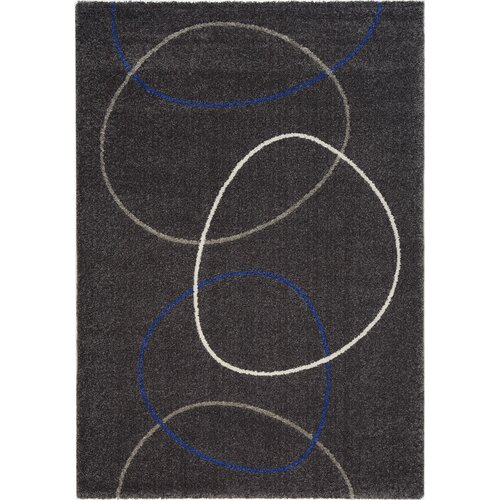 Ashbury Linked Blue / Cream Circles Rug