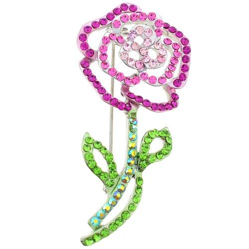 Rose Crystal Brooch