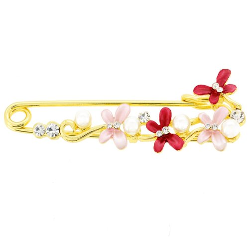 Butterfly Pearl Fashion Crystal Brooch