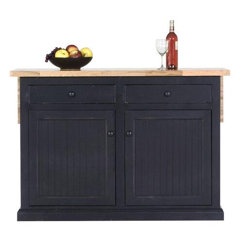 Eagle Furniture Manufacturing Coastal Kitchen Island With