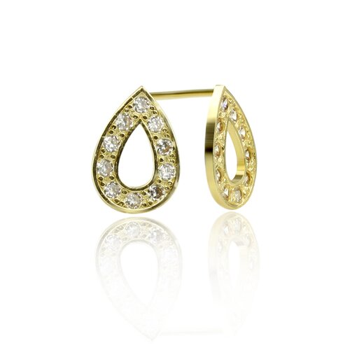 Sparkling Rain Cubic Zirconia Drop Earrings