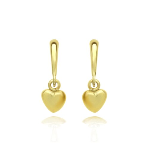Plain Heart Cubic Zirconia Drop Earrings