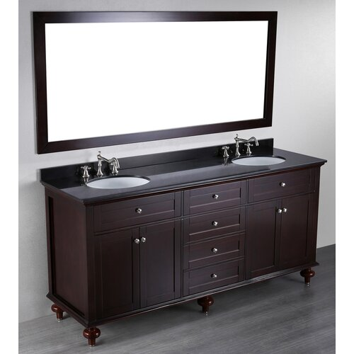 Contemporary 73'' Double Vanity Set